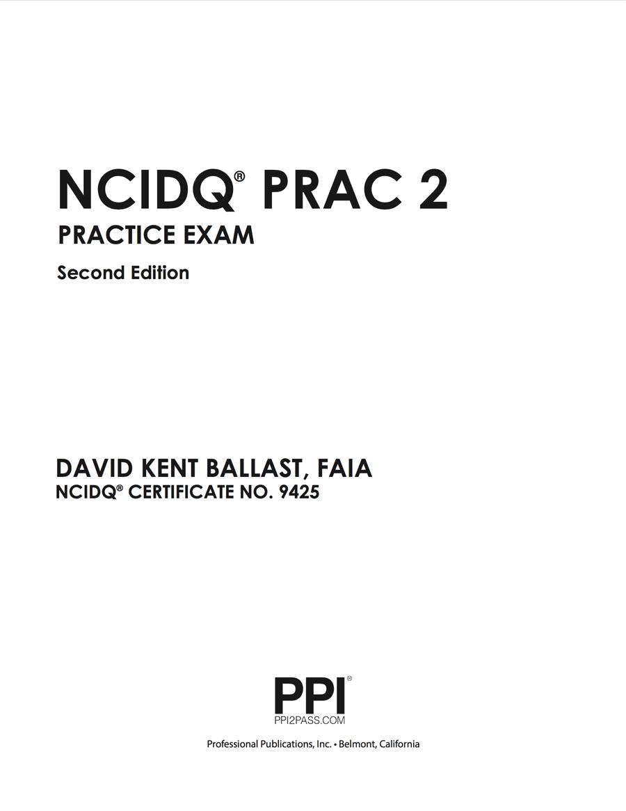 NCIDQ PRAC 2 Practice Exam Problems Paperback • Qpractice