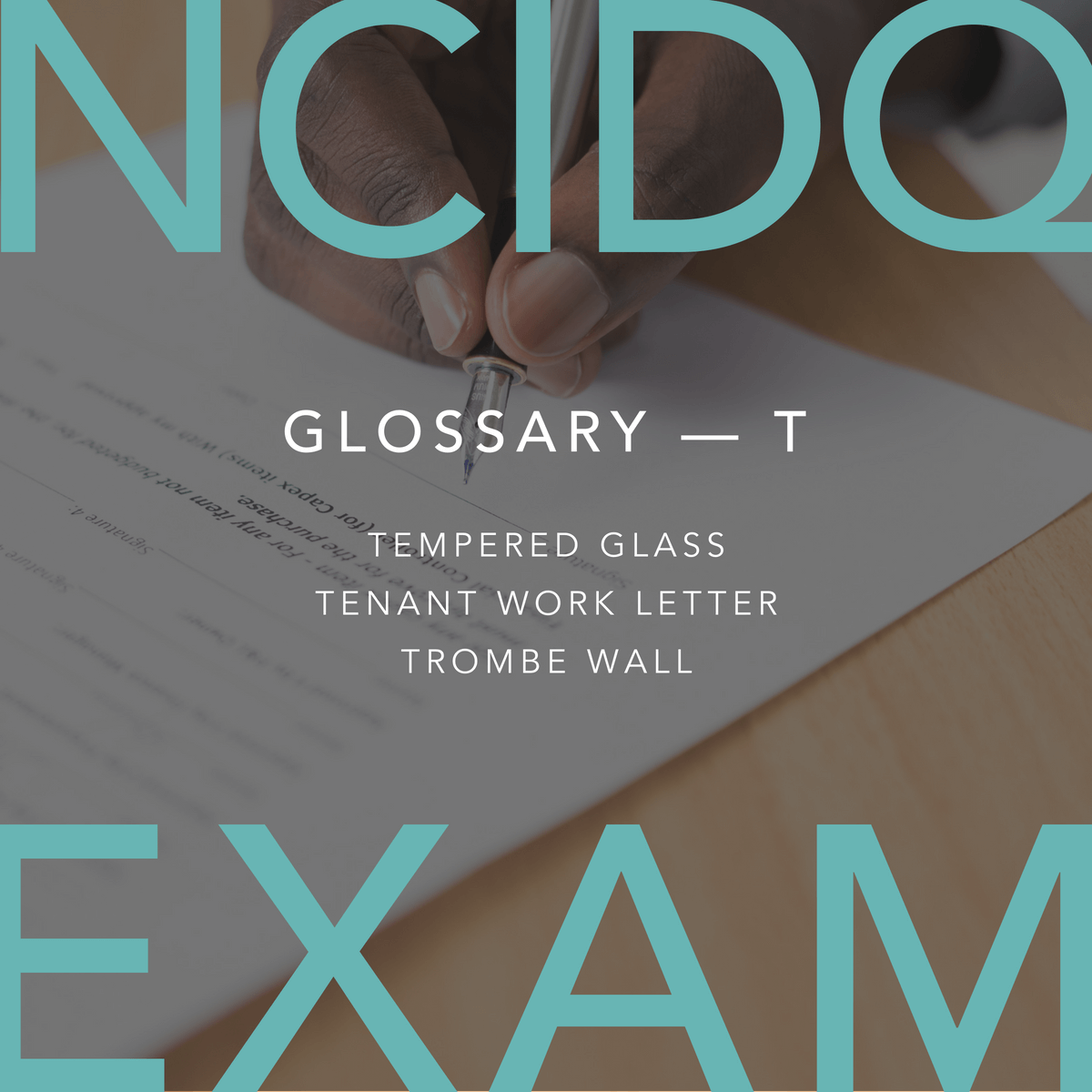 ATrombe wall isusedto reduce theuse of a building'sheating and cooling systems throughpassive solar design. #NCIDQ