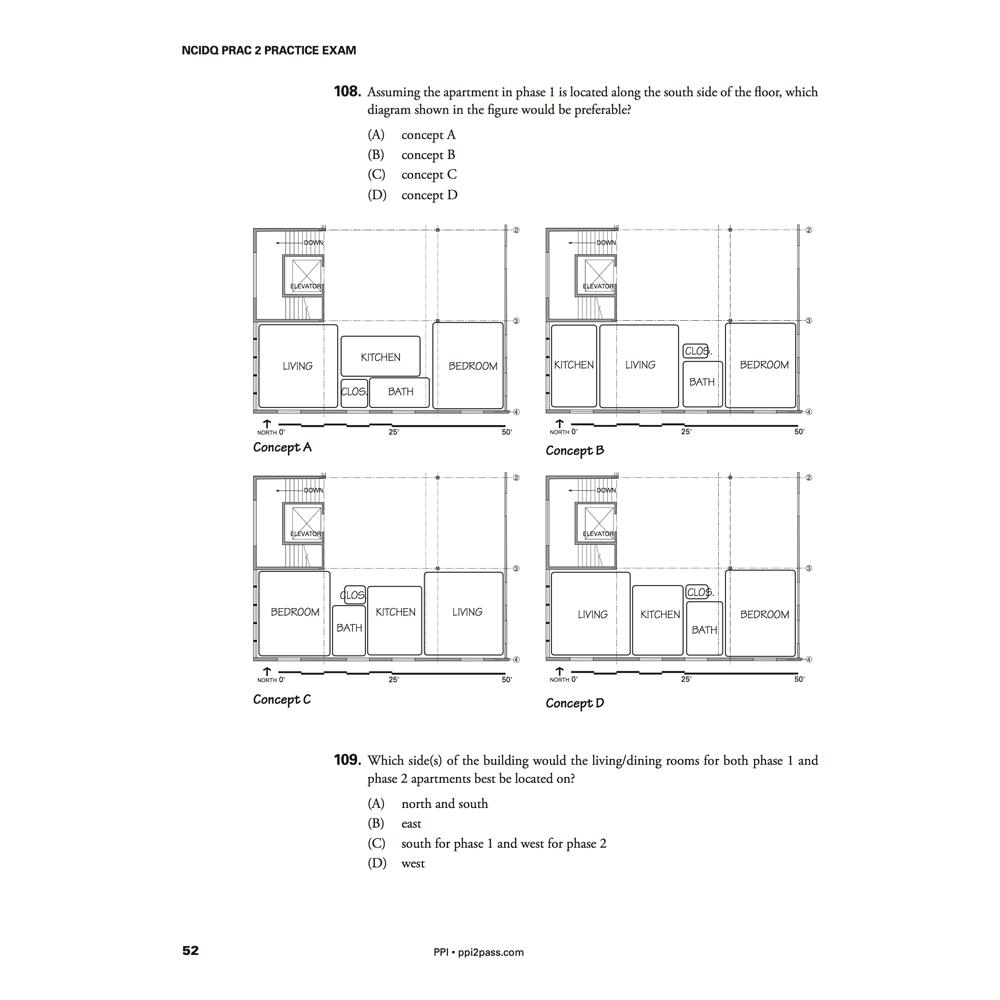 NCIDQ PRAC 2 Practice Exam Problems