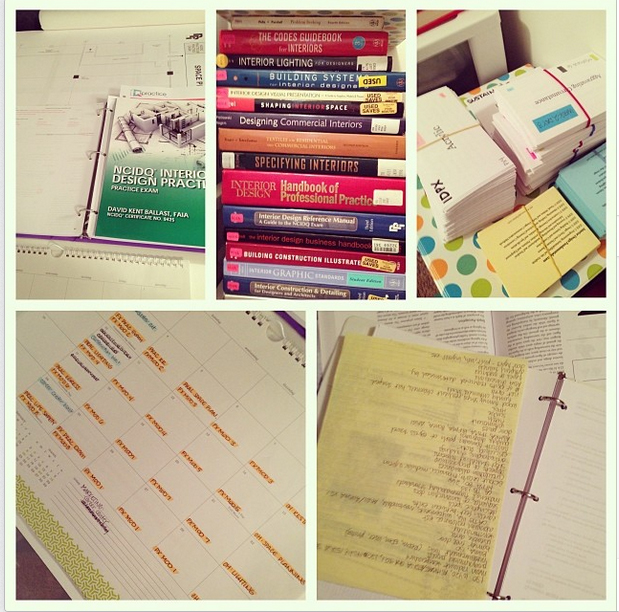Caroline's NCIDQ study supplies