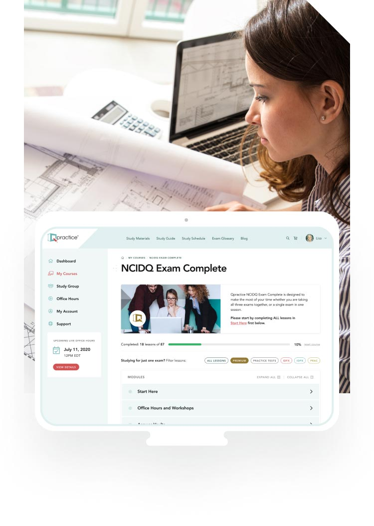 Prepare for the computer-based NCIDQ Exams
